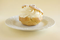 Creme Puff Pastry Dessert Stock Photos