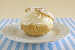 Creme Puff Pastry Dessert Stock Photo