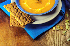 Creme-sopa da abóbora Foto de Stock