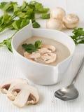 Creme-sopa dos cogumelos Fotografia de Stock Royalty Free