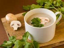 Creme-sopa dos cogumelos Fotos de Stock Royalty Free