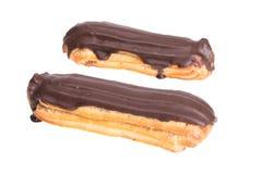 Cremekuchen lokalisiert auf weißem Hintergrund Stockfoto