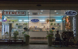 Cremeria La Scintilla display on Cavour Square in Rimini, Italy. Stock Images