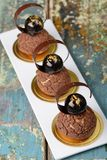 Cremeux chocolate choux dessert Royalty Free Stock Photos