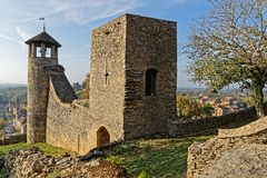The remparts of Cremieu entrance royalty free stock photos