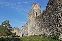 Old walls of the Remparts of Cremieu royalty free stock images