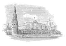 Cremlino di Mosca royalty illustrazione gratis