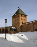 Cremlino di Novgorod Fotografia Stock
