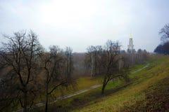 Cremlino di Rjazan'nella foschia di autunno Fotografia Stock