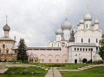 Cremlino di Rostov, vecchia città russa Fotografie Stock Libere da Diritti