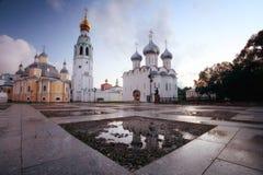 Cremlinvierkant van heilige Sophia Cathedral Vologda, Royalty-vrije Stock Afbeelding