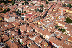 Cremona aerial view, Italy Royalty Free Stock Images