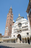 Cremona Cathedral and Bell Tower Stock Photography