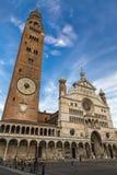Cremona domkyrka av antagandet av vår dam Arkivfoto