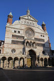 Cremona: the front of the Cathedral Royalty Free Stock Image