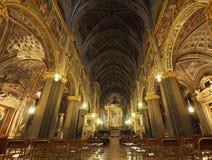 CREMONA, ITÁLIA O 30 DE DEZEMBRO: O interior da catedral Maria Assunta é o lugar de culto principal da cidade - 30 de dezembro 20 Fotografia de Stock
