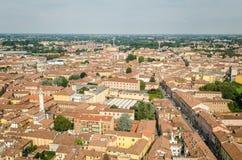 Cremona, Itália, panorama do Torrazzo Foto de Stock