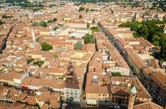Cremona, Itália, panorama do Torrazzo Imagens de Stock Royalty Free