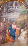 CREMONA, ITALIEN, 2016: Die Fresko Auferstehung von Lazarus in Chiesa-Di Santa Rita durch Giulio Campi u. x28; 1547& x29; Stockfotografie