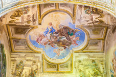Free CREMONA, ITALY, 2016: The Fresco Of Apotheosis Of St. Theresia On Vault Of Side Chapel In Chiesa Di San Sigismondo Stock Image - 77228461