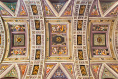 CREMONA, ITALY, 2016: The ceiling fresco in Chiesa di Santa Rita by Giulio Campi (1547). Stock Image