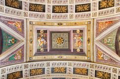 CREMONA, ITALY, 2016: The ceiling fresco with the Old testament scenes in Chiesa di Santa Rita by Giulio Campi (1547). Stock Photos