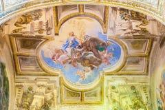 CREMONA, ITALY, 2016: The fresco of Apotheosis of st. Theresia on vault of side chapel in Chiesa di San Sigismondo Stock Image