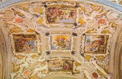 CREMONA, ITALY, 2016: The fresco on the wault of side chapel in San Sigismondo church Royalty Free Stock Image