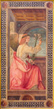 CREMONA, ITALY - MAY 25, 2016: Archangel Gabriel Annunciation paint in cathedral by Tommaso Aleni from 16. cent. CREMONA, ITALY - MAY 25, 2016: The archangel Royalty Free Stock Photos