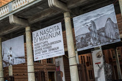 Cremona, Italy november 14 2014: Magnum photographers exibition Royalty Free Stock Photo