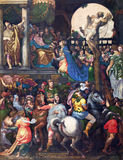 CREMONA, ITALY, 2016: The painting Triumph of Mordecai in Cathedral of Assumption of the Blessed Virgin Mary Royalty Free Stock Photo