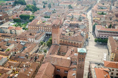 Cremona, Italy, panorama from the Torrazzo Stock Photo