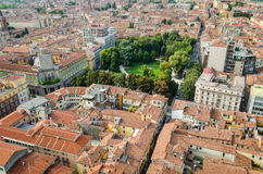 Cremona, Italy, panorama from the Torrazzo Royalty Free Stock Photo