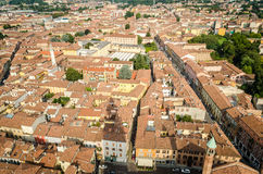 Cremona, Italy, panorama from the Torrazzo Royalty Free Stock Images