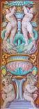 CREMONA, ITALY: Symbolic fresco of angels in Chiesa di San Sigismondo by Giulio Campi, Bernardino Campi e Bernardino Gatti. CREMONA, ITALY - MAY 24, 2016: The Royalty Free Stock Image