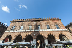 Cremona, medieval palace Stock Photo