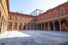 Cremona, Palazzo Trecchi Royalty Free Stock Image
