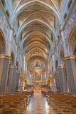CREMONA, WŁOCHY, 2016: Gothic nave katedra z renaissance frescoes Obraz Royalty Free