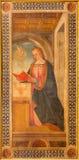 CREMONA, WŁOCHY, 2016: Maryja Dziewica od Annunciation farby w katedrze Tommaso Aleni Zdjęcia Royalty Free