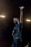 Cremonini realiza vivo en la arena Fotografía de archivo libre de regalías