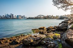 Shore Walking Trail at Cremorne Point in Sydney Harbour, Austral. Cremorne Point, Sydney, Australia - September 11, 2018: Sydney Harbour shore walking trail royalty free stock photos