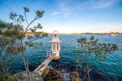 Cremorne punktu latarnia morska na Sydney schronieniu Zdjęcie Royalty Free