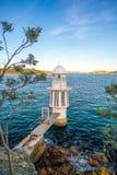 Cremorne punktu latarnia morska na Sydney schronieniu Obraz Royalty Free