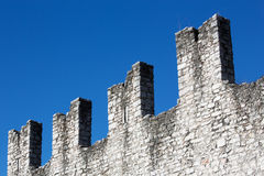 Crenellated wall Italian Royalty Free Stock Images
