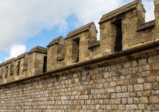 Crenellated Wall on Windsor Castle Royalty Free Stock Images
