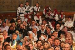 Crentes ortodoxos Fotos de Stock