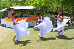 Creole dancers - Sega dance. Stock Photos