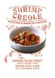 Creole do camarão da coleção da cultura de Nova Orleães fotos de stock