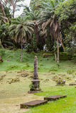 Creole graveyard. In La Digue - Seychelles Stock Images