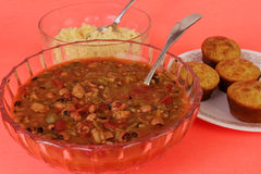 Creole Gumbo Dinner Royalty Free Stock Image